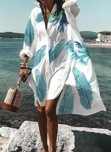 Sukienka Cikelly mini z długim rękawem koszulowa