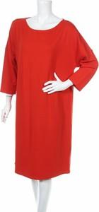 Sukienka STREET ONE prosta z długim rękawem midi