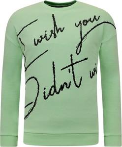 Sweter TONY BACKER z okrągłym dekoltem w młodzieżowym stylu