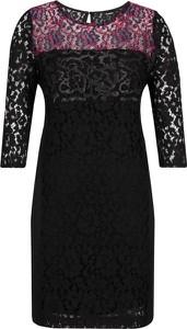 Sukienka Desigual z długim rękawem z okrągłym dekoltem
