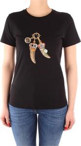 T-shirt Liu-Jo z okrągłym dekoltem z krótkim rękawem w młodzieżowym stylu
