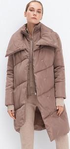 Brązowy płaszcz Mohito