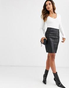 Spódnica Vero Moda mini ze skóry