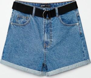 Niebieskie szorty Cropp z jeansu w stylu casual