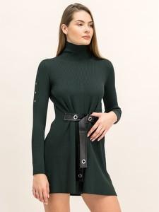 Zielona sukienka Patrizia Pepe z długim rękawem z golfem mini