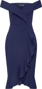 Niebieska sukienka BooHoo midi