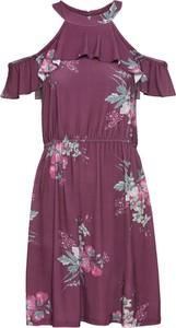 Czerwona sukienka bonprix BODYFLIRT z dżerseju z krótkim rękawem