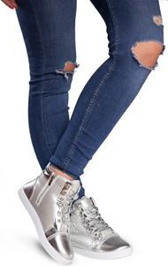 Gemre wysokie trampki sneakersy r17 srebrny
