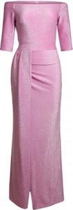 Różowa sukienka noshame maxi hiszpanka