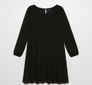 Sukienka Cropp z długim rękawem z tkaniny