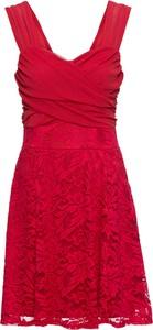 Czerwona sukienka bonprix BODYFLIRT bez rękawów mini