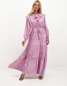 Różowa sukienka Lavard z tkaniny