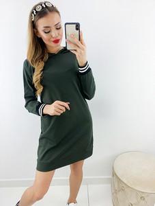 Zielona bluzka Novvi.pl z długim rękawem w stylu casual
