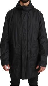 Czarna kurtka Dolce & Gabbana długa w stylu casual