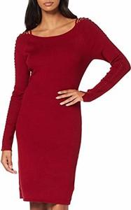 Sukienka amazon.de z długim rękawem mini z okrągłym dekoltem