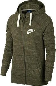 Zielona bluza Nike w stylu vintage z bawełny