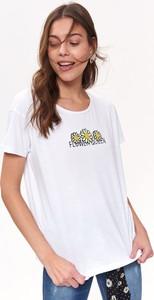 T-shirt Top Secret z bawełny z krótkim rękawem