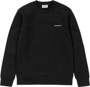 Czarny sweter Carhartt WIP z okrągłym dekoltem w stylu casual