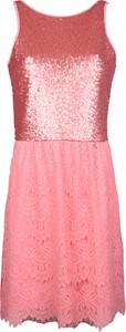 Różowa sukienka Patrizia Pepe z tkaniny bez rękawów midi