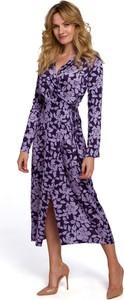 Sukienka Makover z dekoltem w kształcie litery v w stylu casual z tkaniny