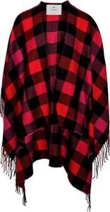 Czerwony płaszcz Woolrich w stylu boho z tkaniny