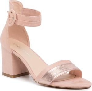Różowe sandały Jenny Fairy z klamrami