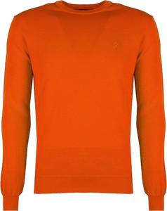 Pomarańczowy sweter Roberto Cavalli w stylu casual