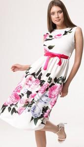 Sukienka born2be midi z okrągłym dekoltem bez rękawów