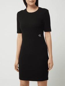 Sukienka Calvin Klein mini z krótkim rękawem w stylu casual