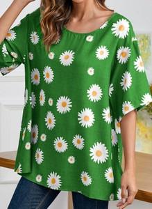 Zielona bluzka Cikelly w stylu casual z bawełny