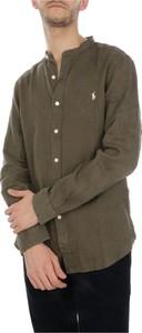 Zielona koszula POLO RALPH LAUREN z bawełny z kołnierzykiem button down w stylu casual