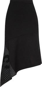Czarna spódnica Y-3 z moheru midi