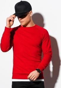 Czerwona bluza Ombre w stylu casual z bawełny