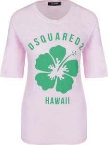 T-shirt Dsquared2 z okrągłym dekoltem z bawełny z krótkim rękawem