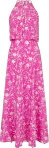 Różowa sukienka Pepe Jeans bez rękawów z tkaniny maxi