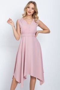 Sukienka Royalfashion.pl midi asymetryczna