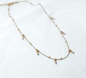 ANIA KRUK Choker ARIEL srebrny pozłacany z naturalnymi perłami