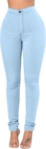 Niebieskie spodnie Elegrina w młodzieżowym stylu z bawełny