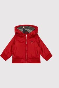 Czerwona kurtka dziecięca Guess dla chłopców
