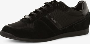 Czarne buty sportowe Boss Athleisure z weluru sznurowane