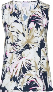 Bluzka bonprix bpc selection w stylu retro z dekoltem w kształcie litery v bez rękawów
