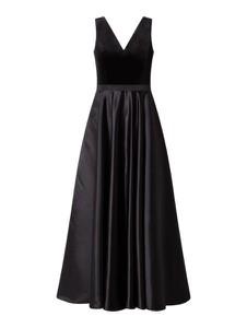 Sukienka Paradi z satyny maxi z dekoltem w kształcie litery v