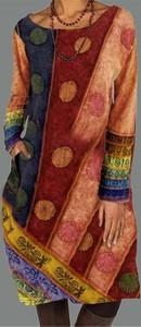 Sukienka Cikelly z okrągłym dekoltem z długim rękawem mini