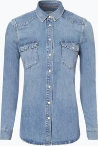 Niebieska koszula Tommy Hilfiger z jeansu z kołnierzykiem
