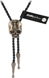 Męski naszyjnik z czaszką estilo sabroso es04828