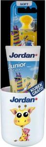 Jordan, Junior zestaw, pasta do zębów dla dzieci 6-12 lat, 50 ml + szczoteczka + kubek