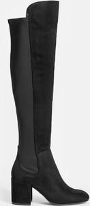 Czarne kozaki Kazar na obcasie w stylu casual