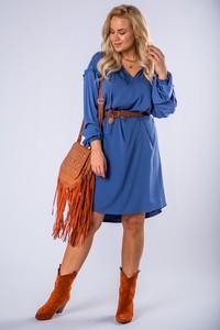 Sukienka Ptakmoda.com mini z długim rękawem trapezowa