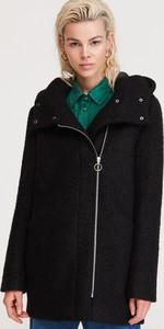 Czarny płaszcz Reserved z wełny w stylu casual