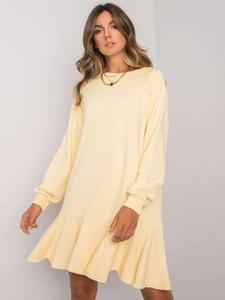 Sukienka Sheandher.pl z okrągłym dekoltem z dresówki oversize